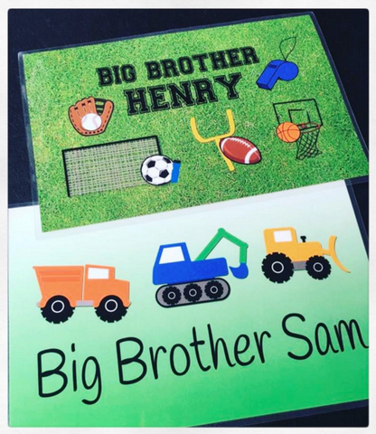 Personalized Placemats - Big Brother or Big Sister