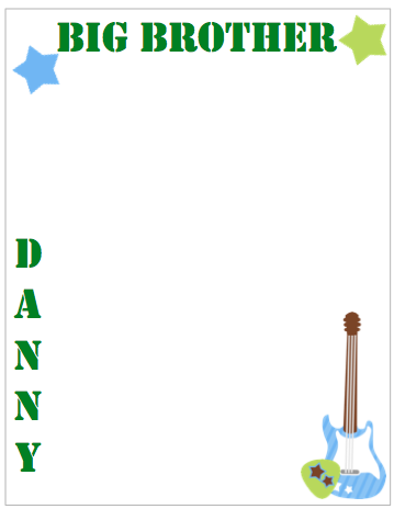 Extra Large Personalized Notepad - Rock Star