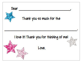 Fill-in-the-Blank Thank You Notes - Stars V2