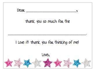 Fill-in-the-Blank Thank You Notes - Stars V1