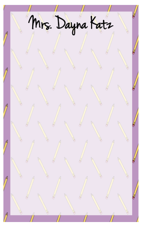 Personalized Pencil Border Notepad