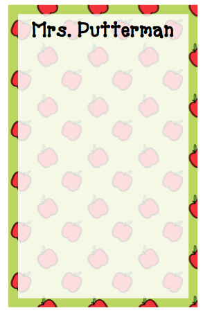 Personalized Apple Border Notepad
