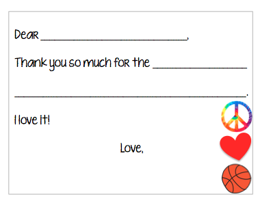 Fill-in-the-Blank Thank You Notes - Pink Basketball Party V4