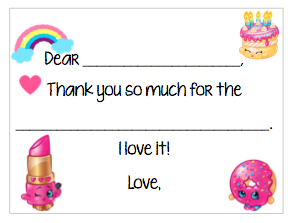 Fill-in-the-Blank Thank You Notes - Shopkins V1