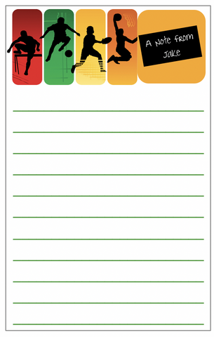Multi-Sport Colorful Notepad - V2