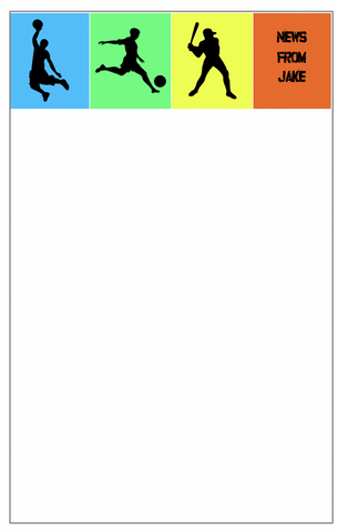 Multi-Sport Colorful Notepad - V1