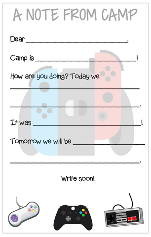 Personalized Camp Stationery - Games