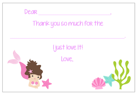 Fill-in-the-Blank Thank You Notes - Mermaid V2