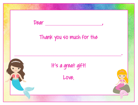 fill in the blank thank you notes mermaid v4 puttart com