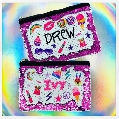 Flip Sequin Makeup Bag