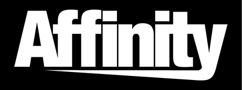"Affinity 4"" Vinyl Decal - White"