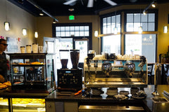 Kai Coffee Hawaii downtown bakery cafe interior looking out toward front door