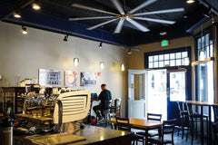Kai Coffee Hawaii downtown bakery and cafe interior looking out toward front door