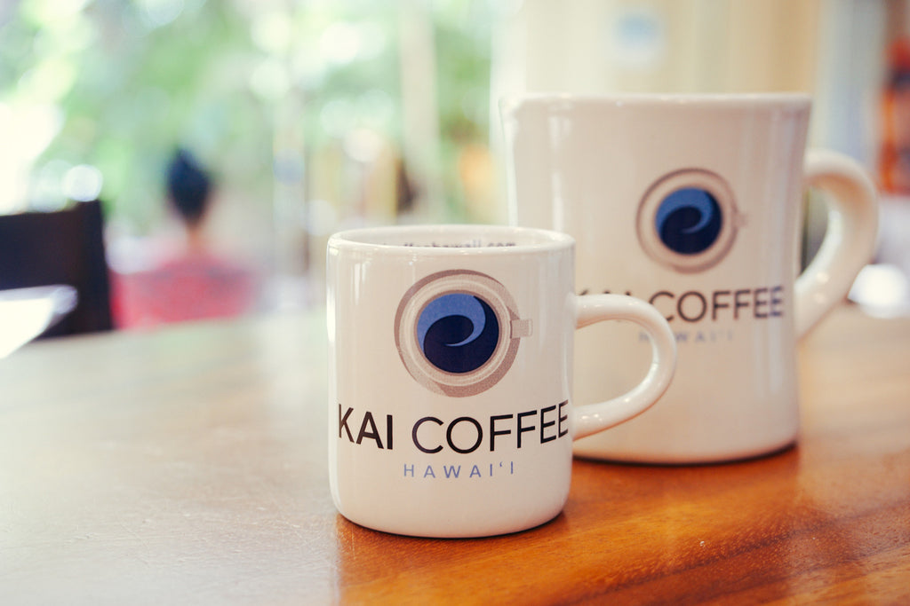 Kai Coffee Hawaii ceramic diner mug, Kai Coffee Hawaii, Aloha In Every Cup™
