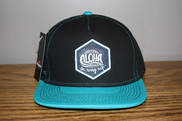 Aloha In Every Cup Snap Back Teal