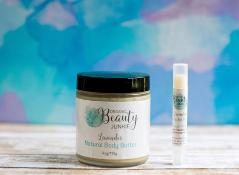 Natural Body Butter & Vegan Solid Perfume Gift Set