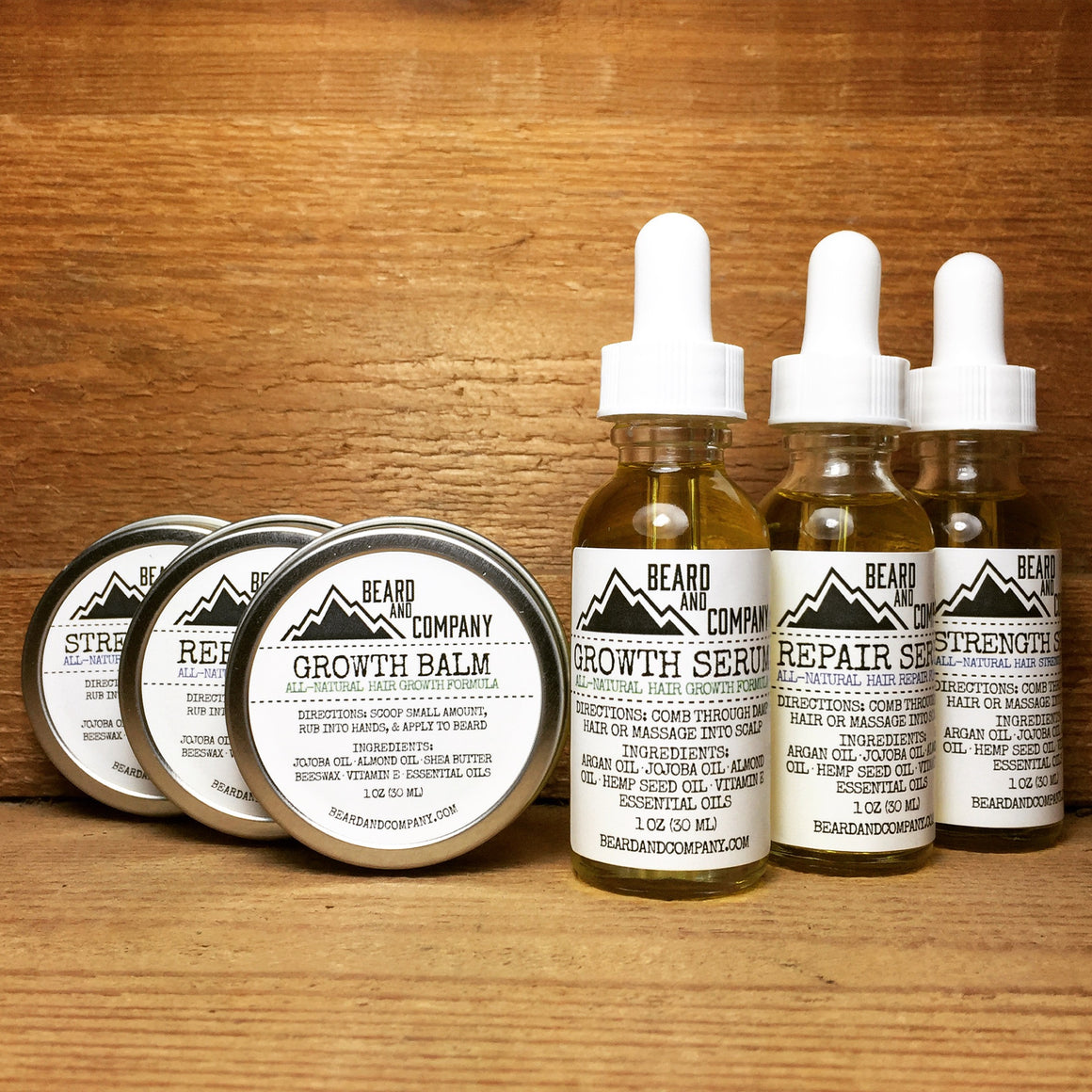 formulated beard balm and serum bundle