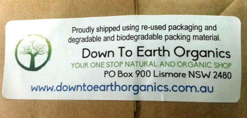 DTE Organics Shipping Label