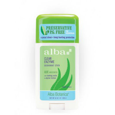 Alba Botanica Clear Enzyme Deodorant Stick 55g Aloe Unscented