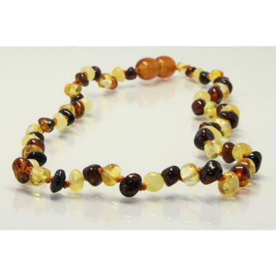 Amberbebe Baltic Amber Necklace 33cm Multi-Coloured