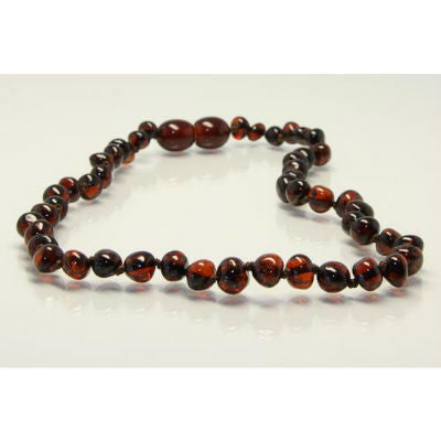 Amberbebe Baltic Amber Necklace 33cm Walnut