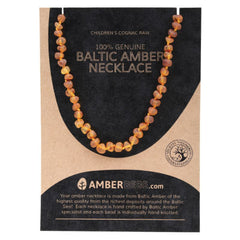 Amberbebe Baltic Amber Children's Necklace Cognac Raw
