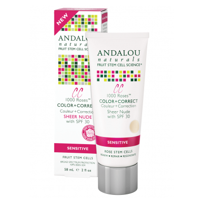 Andalou Naturals 1000 Roses Color + Correct Sheer Nude SPF 30