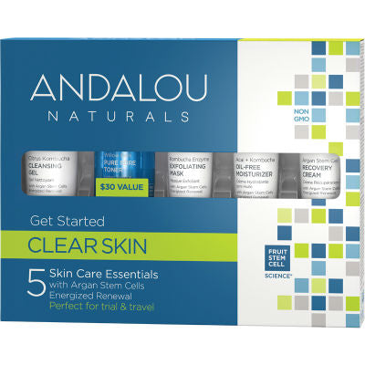 Andalou Naturals Clear Skin Get Started Kit | Trial & Travel Pack