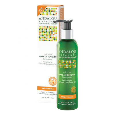Andalou Naturals Make-Up Remover 178ml Brightening Lash + Lid