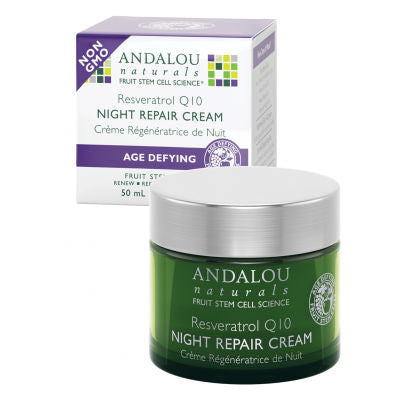 Andalou Naturals Resveratrol Q10 Night Repair Cream 50mL