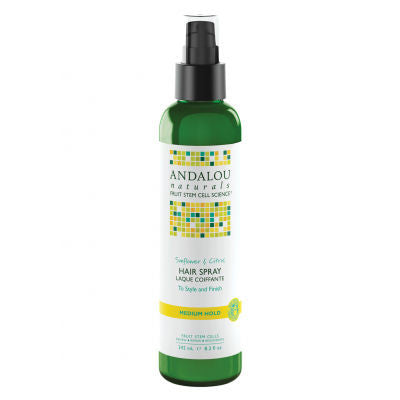 Andalou Naturals Sunflower & Citrus Hair Spray 242mL Medium Hold