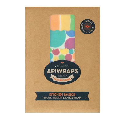 Apiwraps Reusable Beeswax Wraps Kitchen Basics