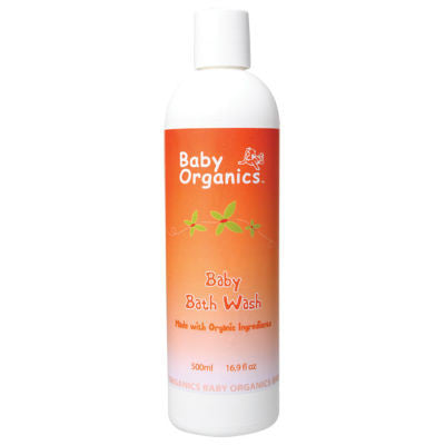 Baby Organics Baby Bath Wash 500mL 77% Certified Organic
