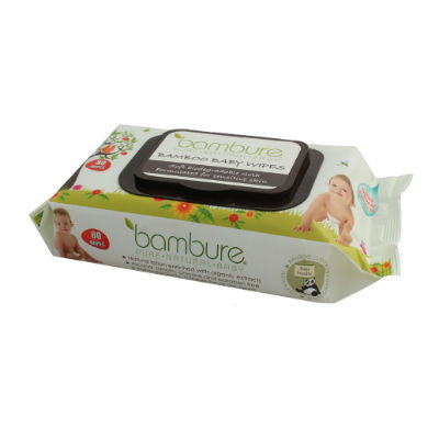Bambure Bamboo Baby Wipes 80 Pack (formerly Bambeco)