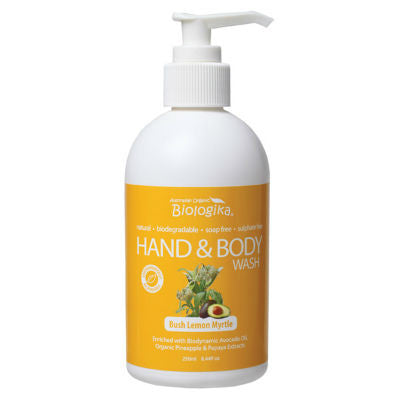 Biologika Hand & Body Wash 250mL Bush Lemon Myrtle
