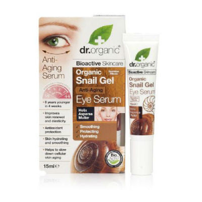 Dr Organic Eye Serum 15ml Organic Snail Gel