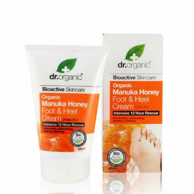 Dr Organic Foot & Heel Cream 125mL Organic Manuka Honey