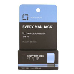 Every Man Jack Lip Balm SPF 15 (Twin pack) Fragrance Free