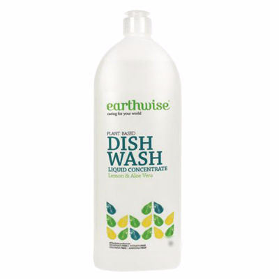 Earthwise Dishwash Liquid Concentrate 500mL Lemon & Aloe Vera