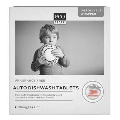 Ecostore Auto Dishwash Tablets 600g (30 Tablets) Fragrance Free