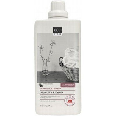 Ecostore Laundry Liquid 1L Geranium & Orange