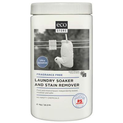 Ecostore Laundry Soaker & Stain Remover 1kg Unscented (formerly Pure Oxygen Whitener)