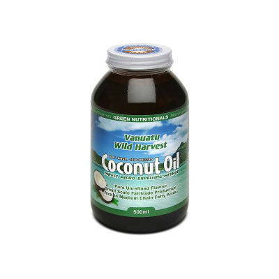 Green Nutritionals Vanuatu Wild Harvest Coconut Oil 500mL