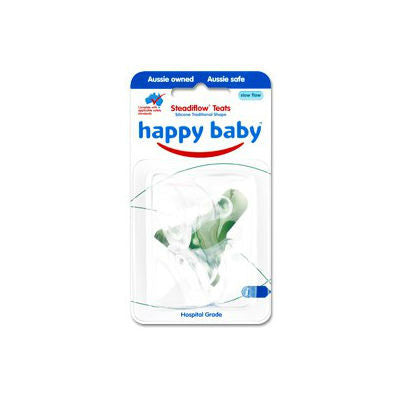 Happy Baby Silicone Cherry Teat for Glass Bottles
