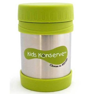 Kids Konserve Stainless Steel Insulated Food Jar GREEN