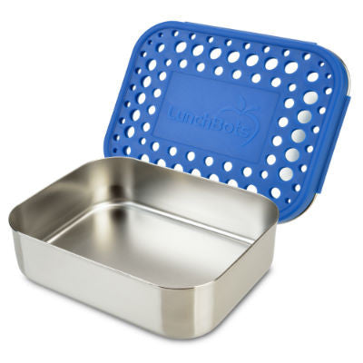 LunchBots Stainless Steel Lunchbox Uno Blue