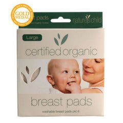Nature's Child Cotton Breast Pads Certified Organic 6 Pack LARGE