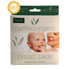 Nature's Child Cotton Breast Pads Certified Organic 6 Pack Regular