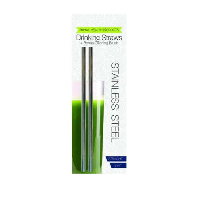 Primal Health Products Stainless Steel Drinking Straws Straight