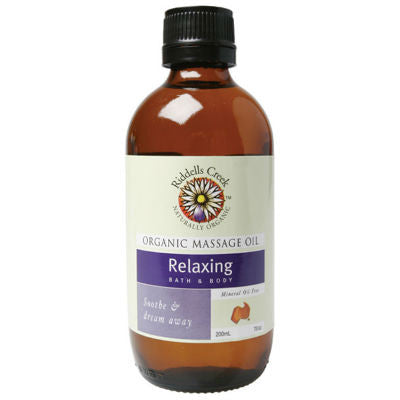 Riddells Creek Massage Oil 200mL Relaxing